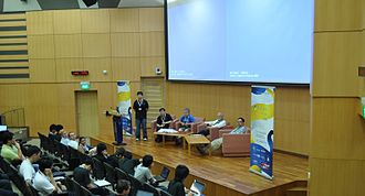 Python Conference - The closing panel of the 2010 PyCon Asia Pacific held at the Singapore Management University
