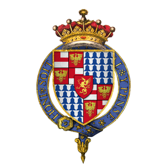 Richard Woodville, 1st Earl Rivers - Quartered arms of Sir Richard Wydeville, 1st Earl Rivers, KG