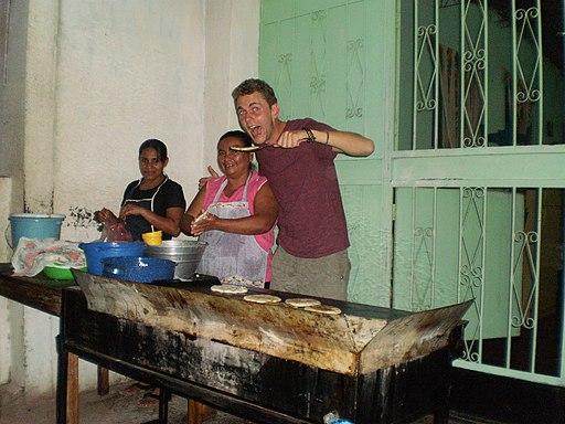 Cocinar pupusas