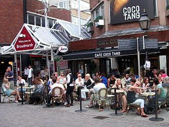 Broadmarsh - Cafe beside the centre entrance