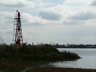 Coldharbour, Havering - Image: Coldharbour Light geograph.org.uk 49366
