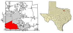 Collin County Texas Incorporated Areas Plano highlighted.svg