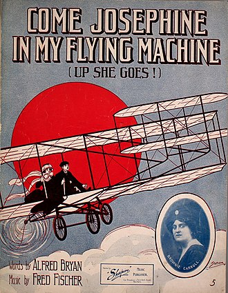 Come Josephine in My Flying Machine - 1910 sheet music cover