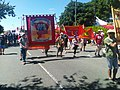 Communist Party of Britain on parade at Tolpuddle, 2018.jpg