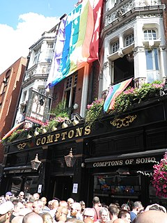 Comptons of Soho gay bar in Old Compton Street, London