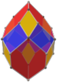 Concertina cube with alternating vertex colors; ryb.png