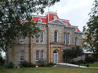 Paint Rock, Texas - The Concho County Courthouse in Paint Rock
