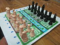 Congo chess Board with plastic chess pieces.JPG