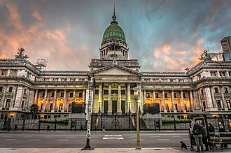Palace of the Argentine National Congress - View of main facade