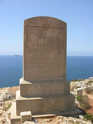 Walter Norris Congreve - The memorial to Walter Norris Congreve in Qrendi, Malta