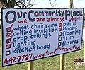 Construction checklist sign Our Community Place Harrisonburg VA March 2008.jpg