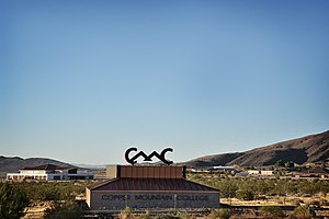 Copper Mountain College - Copper Mountain College Sign with campus in background in June 2017