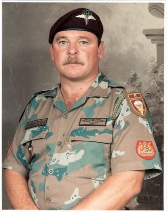 South African military ranks - A WO1 wearing RSM insignia