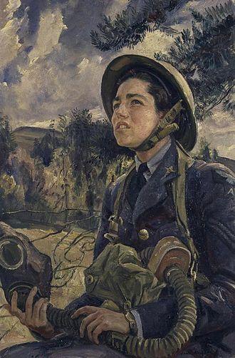 Laura Knight - Corporal J. D. M. Pearson, GC, WAAF (1940) (Art. IWM ART LD 626)