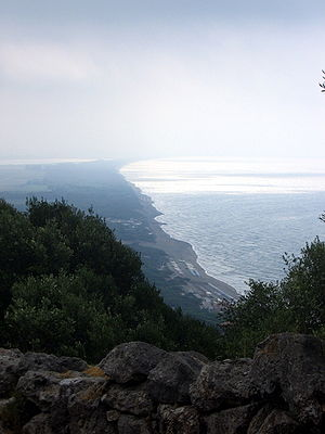 Cosa - Vulci's coast, seen from Cosa