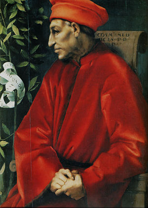 Republic of Florence - Cosimo de' Medici, founder of the House of Medici