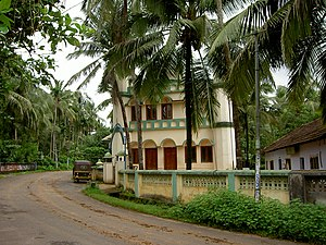 Thrissur district -  Cheraman Jama Masjid built around 612 AD by Malik Ibn Dinar. First mosque constructed in India. A block of white marble in the mosque is believed to have been brought from Mecca.