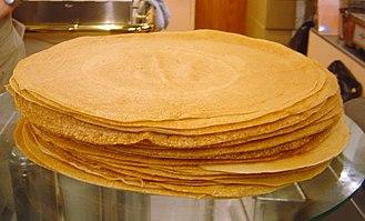 Crêpe - A stack of crêpes