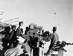 Crewmen of USS Newport News (CA-148) target Firebee drone c1965.jpg