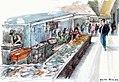 Croquis- marché aux poissons de Faro - Portugal (6785147596).jpg