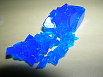 Crystal of copper(II)sulfate4 � 5H2O