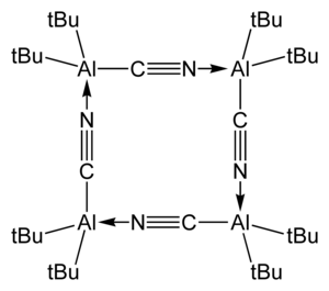 Diethylaluminium cyanide - tetrameric bis(tert-butyl)aluminium cyanide