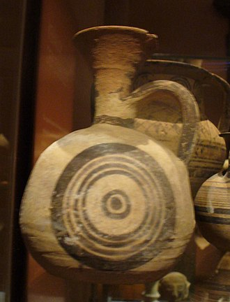 Aryballos - Image: Cypriotic White Painted Ware in Vienna 14