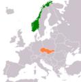 Czechoslovakia Norway Locator.png
