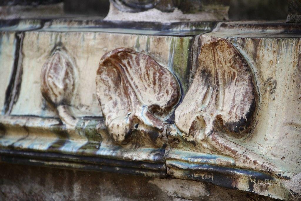 Detalle de un balcón de la Villa Majorele en Nancy