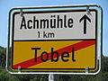 D-BW-Bodnegg-Tobel - Ortsschild nach Achmuehle.JPG