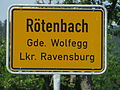 D-BW-Wolfegg-Roetenbach - City limit sign.JPG