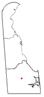 Location of Georgetown, Delaware