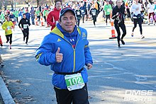 Dave McGillivray runs in the Feaster Five Thanksgiving Day Road Race