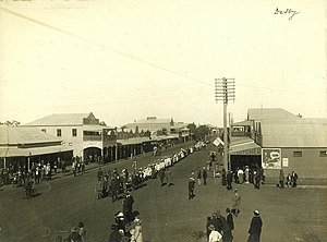 Dalby, Queensland - Children marching in the main street, ca. 1915