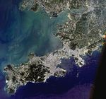 Dalian, China, satellite image, LandSat-5, 2010-08-03.jpg