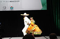 Dancing at the Wikimania 2015 Opening Ceremony IMG 7634.JPG
