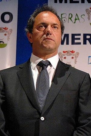 Daniel Scioli en Merlo