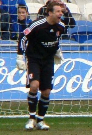Danny Coyne - Coyne playing for Middlesbrough in 2010