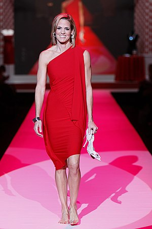 Dara Torres - Torres in the 2010 Heart Truth fashion show