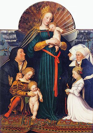 Lais of Corinth (Holbein) - Image: Darmstadt Madonna, by Hans Holbein the Younger