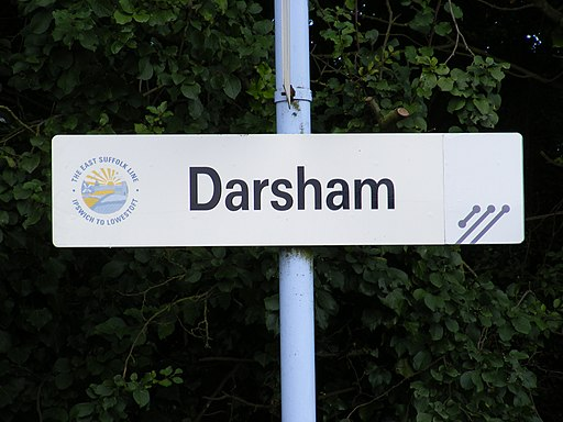Darsham Station Sign - geograph.org.uk - 1405179
