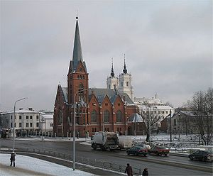 Daugavpilts Lutherian and Catholic churches LV.jpg