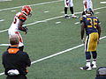 David Barrett squares off against Chad Ocho Cinco in 2008.jpg