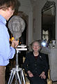 David Cregeen sculpting Lady Thatcher-2006.jpg