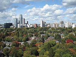 Skyline of Davisville Village, 2009