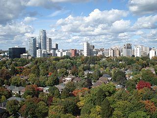 Davisville Village Neighbourhood in Toronto, Ontario, Canada