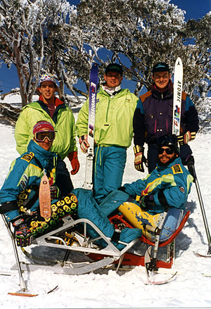 Australia at the 1994 Winter Paralympics - Australian athletes Windham, Patterson, Munk, Milton and Hacon at the 1994 Lillehammer Winter Games