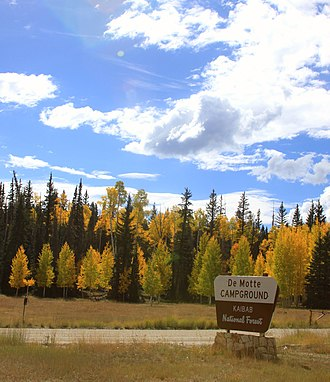 Kaibab National Forest - Image: De Motte Campground in the Fall, North Kaibab Ranger District (5055024279)