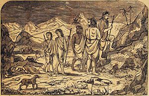 Mahaprasthanika Parva - Mahaprasthanika parva describes the journey of Draupadi and Pandava brothers through India, then in the Himalayas towards Mount Sumeru. Draupadi is the first one to die on the way (shown).