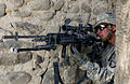 Defense.gov News Photo 110118-A-6760G-041 - U.S. Army Spc. Kyle Oszczakiewicz an infantryman with 2nd Platoon Bravo Company 1st Battalion 187th Infantry Regiment scans for insurgents as.jpg